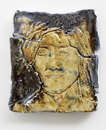 , Judith, glaced ceramics, epoxy, acrylic lacquer, 2013, 32 x 29 x 5 cm, unique