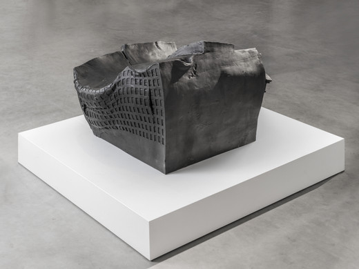 Erwin Wurm, Sitting on Wallstreet, bronze, patinated, 2016, 65 x 102 x 92 cm, 1/5 + 2 AP