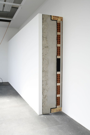 Tatiana Trouvé, Untitled (ref: concrete), concrete, wood, 2008, 260 x 400 x 75 cm
