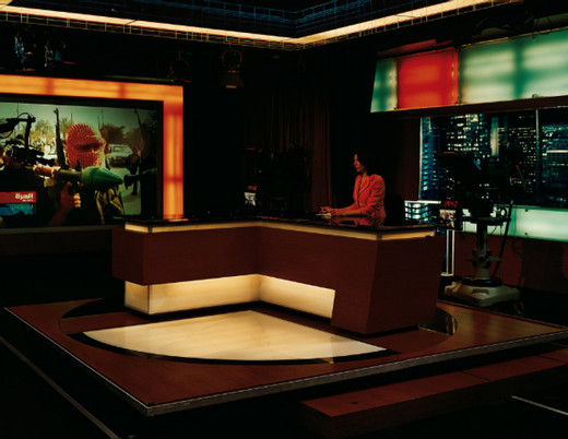 Taryn Simon, Alhurra TV, Broadcast Studio, Springfield, Virginia, c-print, framed, 2006 - 2007, 95 x 113 cm, 6/7