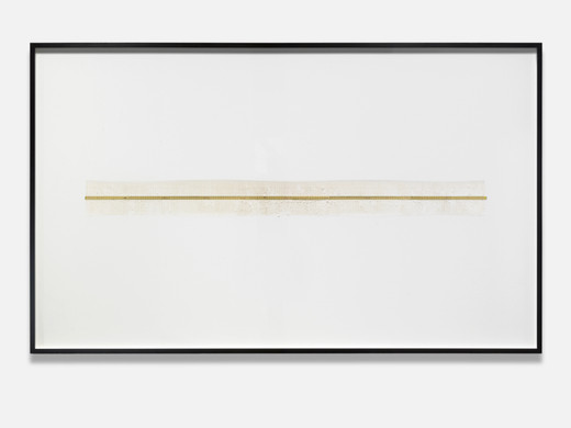 Alicja Kwade, Meta-Meter, measuring stick on paper, framed, 2018, 154 x 254 cm, unique