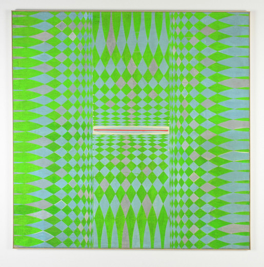 Manfred Kuttner, Moos, tempera, fluorescent painton canvas, wood, 1963, 160 x 160 cm, unique
