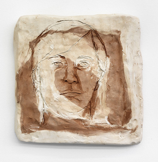 , Annette, ceramic, 2013, 34 x 33 x 5 cm, unique