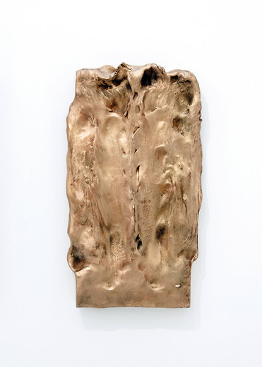 Camille Henrot, Massaged sculptures, bronze, 6 parts, 2011, dimensions variable
