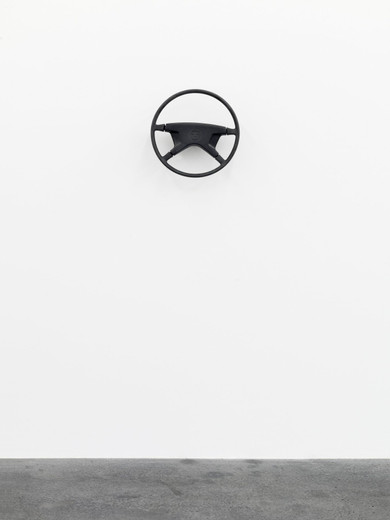 Michael Sailstorfer, Lenker (2), Steering wheel, electric motor, 2012, 40 x 40 x 13 cm, unique