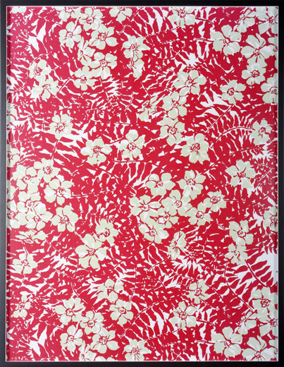 "<span class=""artists work-caption"">Annette Kelm</span><span class=""title work-caption"">Big Print #2 (Maui Fern - Cotton ""Mainsail Cloth"" Fall 1949 Design Dorothy Draper, Courtesy Schumacher & Co)</span><span class=""technique work-caption"">c-print, framed, museum glass</span><span class=""year work-caption"">2007</span><span class=""dimensions work-caption"">131.5 x 100.5 cm</span><span class=""edition work-caption"">2/5 + 2 AP</span>"