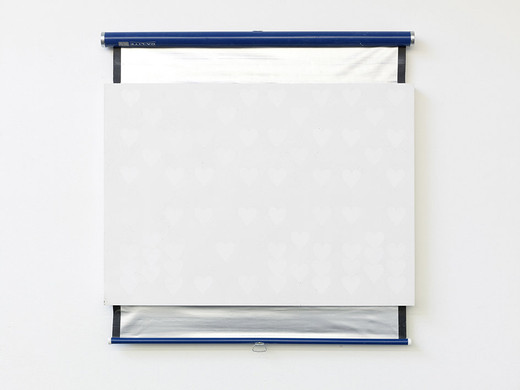 Lisa Lapinski, Untitled (ref screen 6), plaster, wood, metal, 2013, 106.5 x 106.5 x 5.5 cm, unique