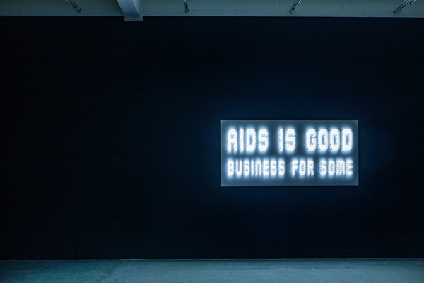 Elmgreen & Dragset, aids is good business for some,  photo by Fred Dott