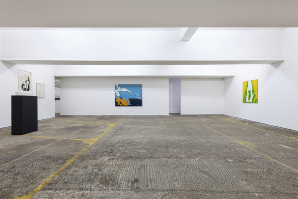 Evelyn Axell, Cheese, 2018, installation view, photo by Damian Griffths