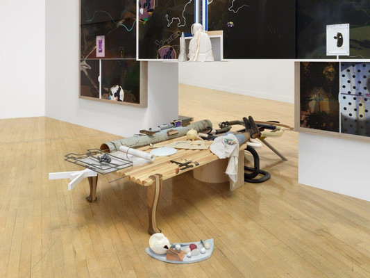 On aerial greens_haymakers_Installation View_The Turner Prize 2016_Tate Britain_27 Sep - 2 Jan 2016_detail_001