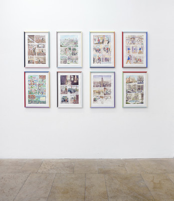 Nothing New, 2019, Pigment pencil on watercolor paper 51,8 x 34 cm (each), photo: Ludger Paffrath