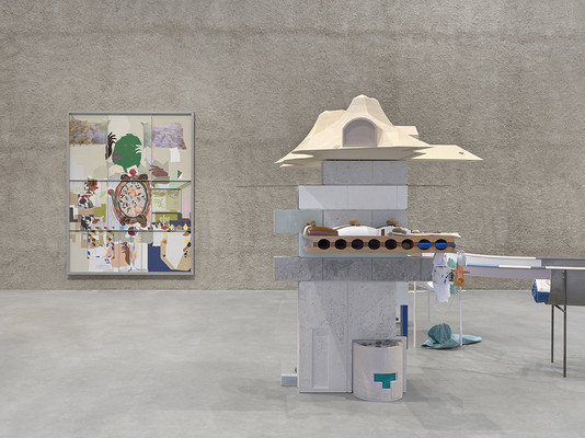 Helen Marten, Fixed Sky Situation, KÖNIG GALERIE, 2019, Installation view by Annik Wetter
