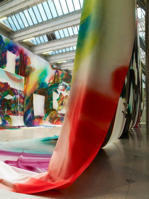 Installation View, © Katharina Grosse and VG Bild-Kunst Bonn; commissioned by National Gallery Prague; courtesy of Galerie nächst St. Stephan; Gagosian and König Gallery, photo: Nic Tenwiggenhorn