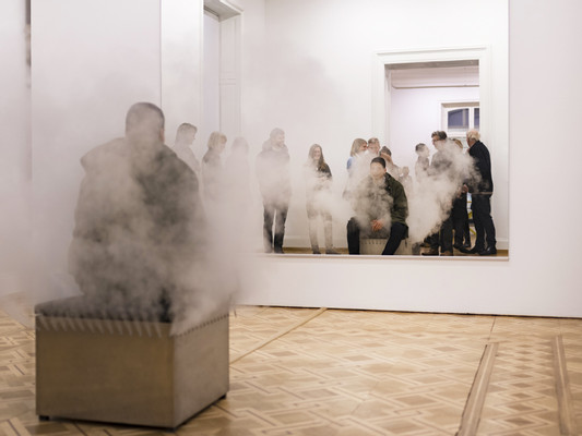 Jeppe Hein, Inhale - Hold - Exhale, 2018, installation view, photo by Ian G. C. White