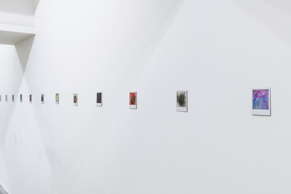 Johannes Wohnseifer, Polaroids, aluminium paintings and all the sculptures of a year, 2019, installation view, photo by Damien Griffiths