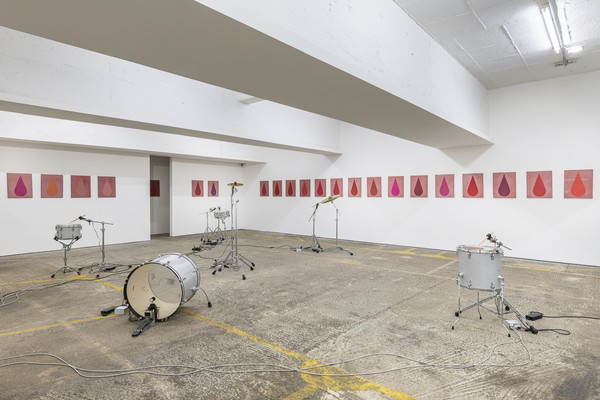 Michael Sailstorfer, Tear Show, 2018, installation view, photo by Damian Griffiths