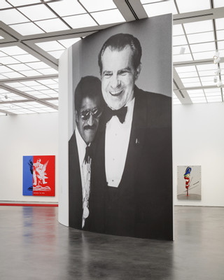 Kathryn Andrews: Run for President, 2015, Installation view Museum Contemporary Art, Chicago, IL Photography: Fredrik Nilsen