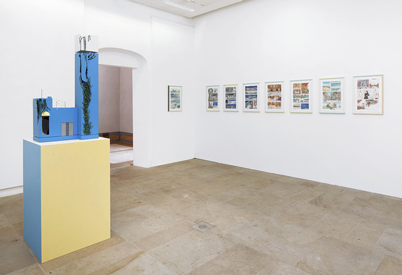 exhibition view, First there is a house, then there is no house, then there is (left), Nothing New (right), photo: Ludger Paffrath