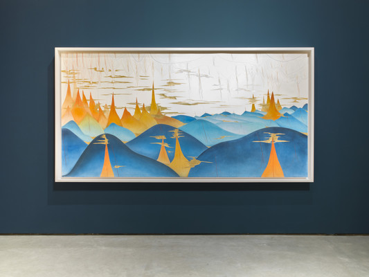 Jorinde Voigt, Installation View, Hills and Turns, Photo: Roman März