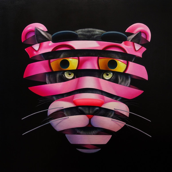 Super A, Pink Panther, 2019, Oil & acrylic on canvas, 100 x 100 cm_m