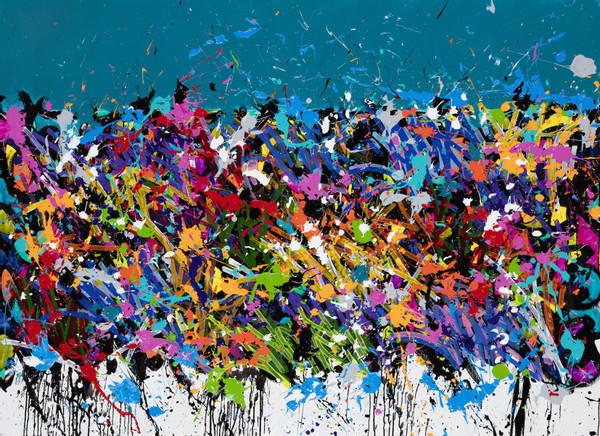 2016-Coney Island, acrylique, encre et Posca sur toile, 143 x 198 cm Kopie